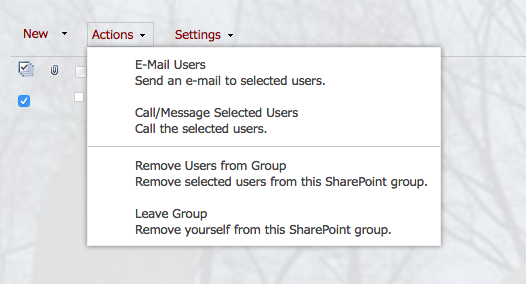Permissions: leave a group